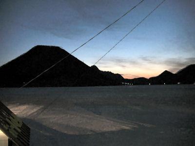 榛名湖の朝